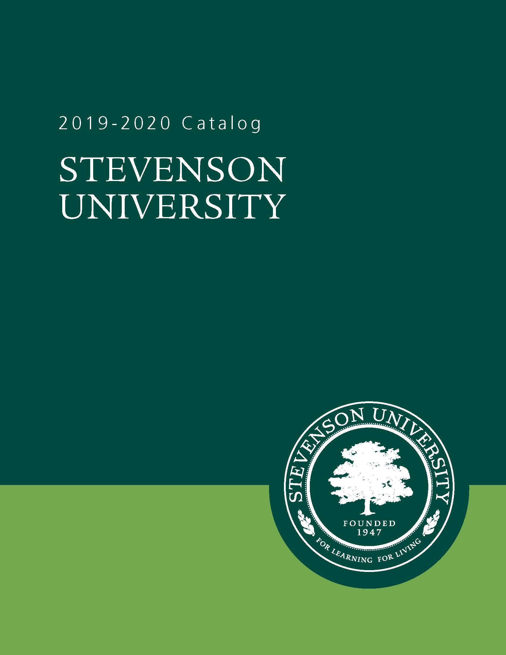 This is a picture of the 2019 - 2020 catalog cover.