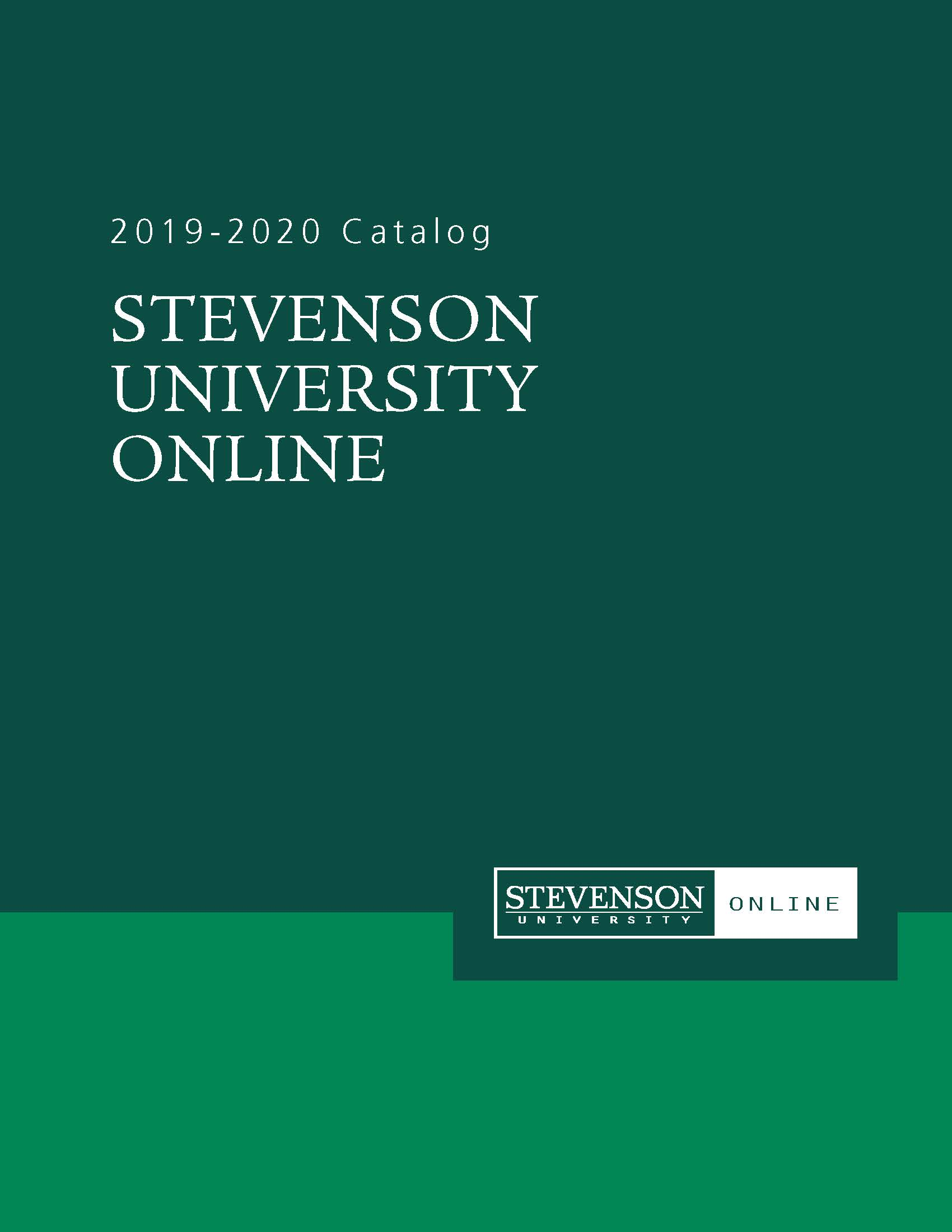 This is the 2019 - 2020 SUO catalog.